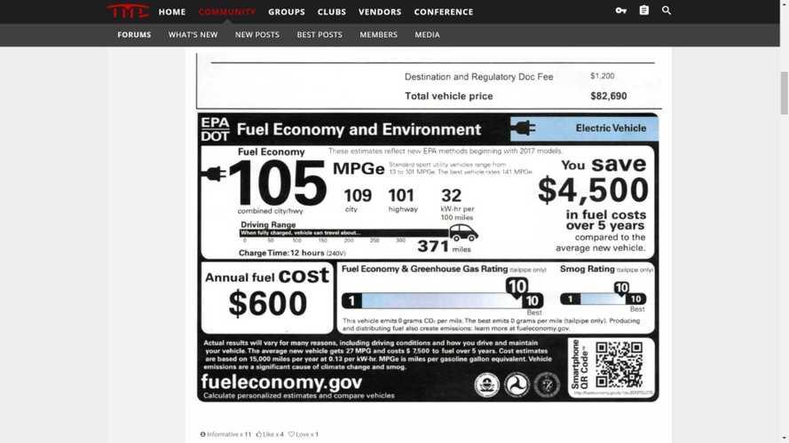 Tesla Model X Maximum EPA Range Would Have Increased To 371 Miles