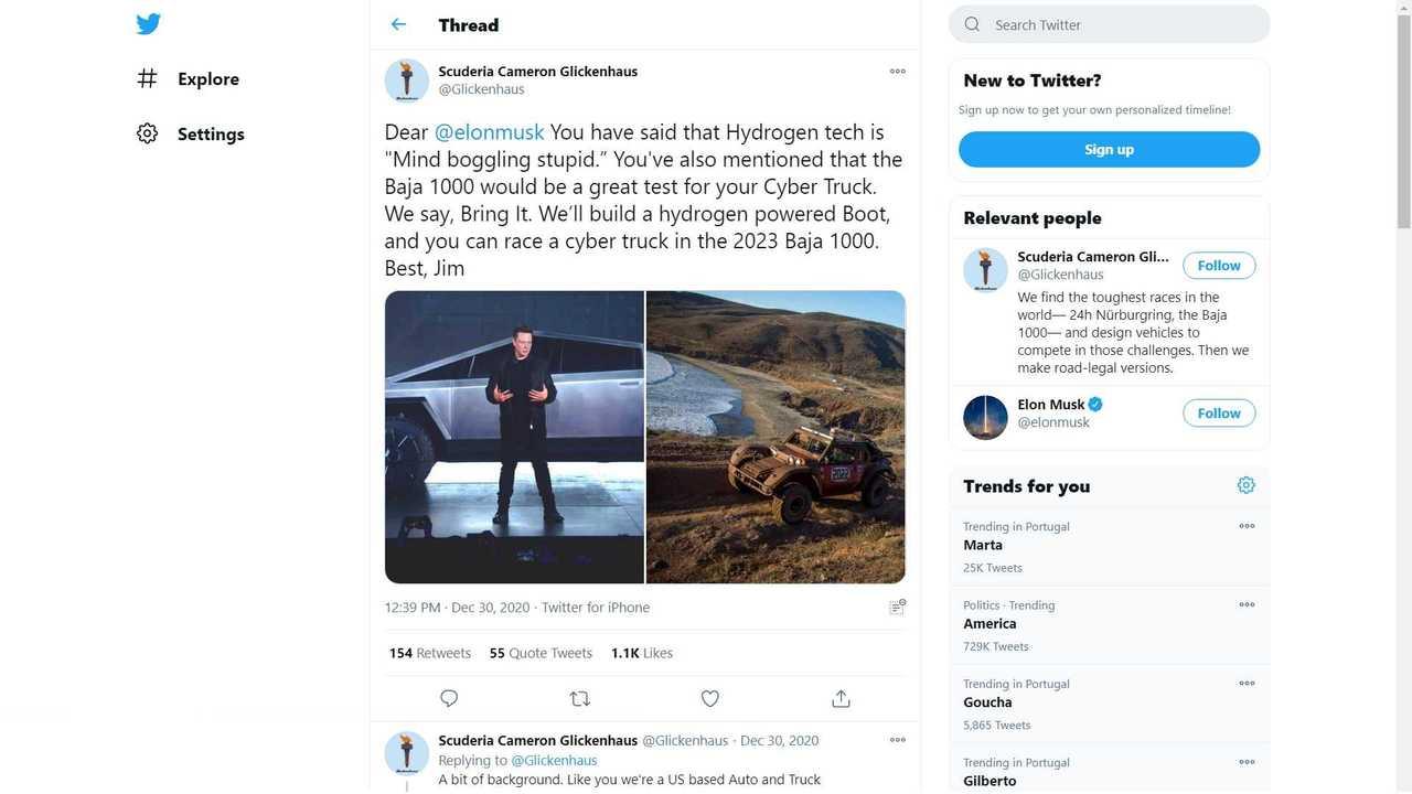 Jim Glickenhaus Dares Elon Musk To Prove FCEV Is Stupid At 2023 Baja
