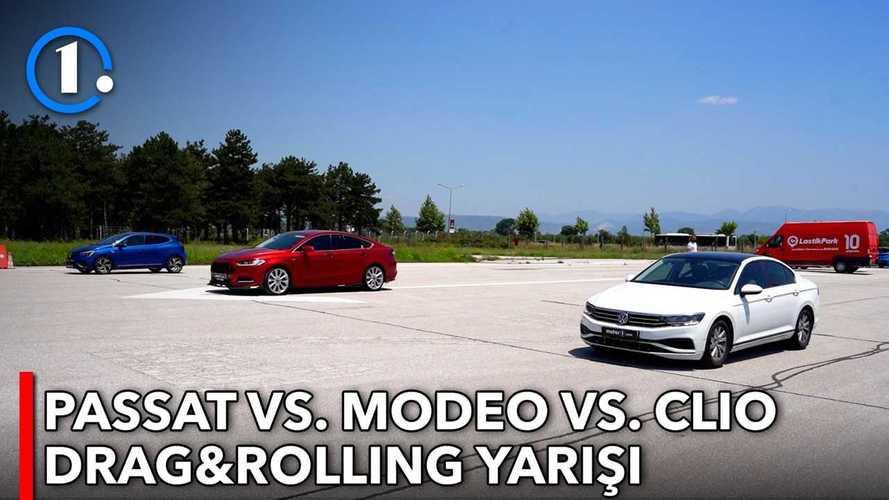 Volkswagen Passat vs Ford Mondeo vs Renault Clio | DRAG&ROLLING!