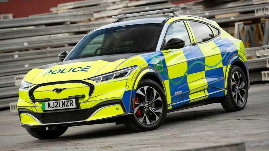 El Ford Mustang Mach-E se convierte en coche de policía