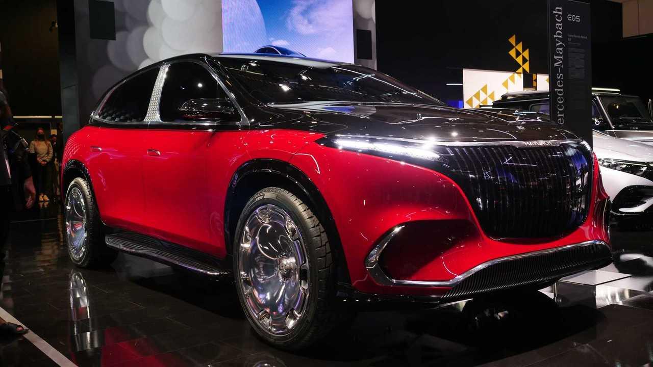 Mercedes-Maybach EQS 2021 - Fotos ao vivo