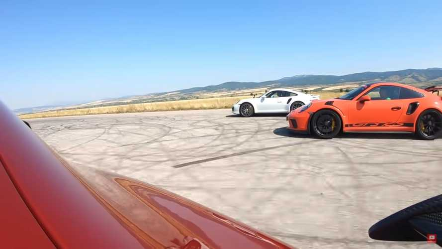 AMG GT R Faces Fearsome Porsche 911 Duo In Three-Way Drag Race