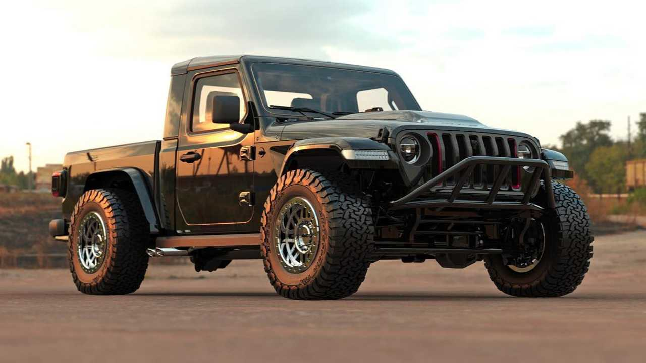 Jeep Gladiator Single Cab Short Box Rendering