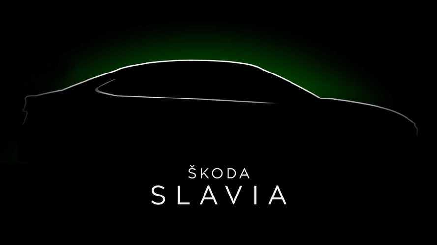 Skoda Slavia (2022) gibt sein Teaser-Debüt