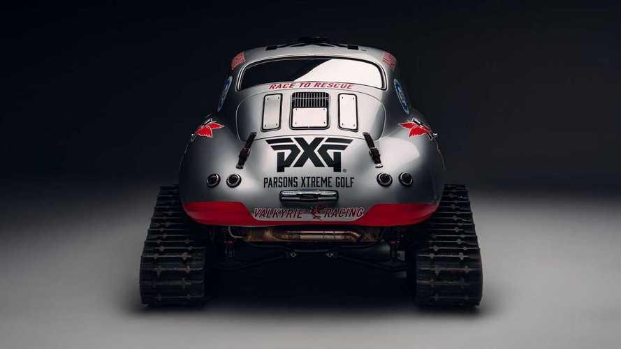 Porsche 356A Jadi Mobil Salju, Dipacu Pembalap Cantik untuk Amal
