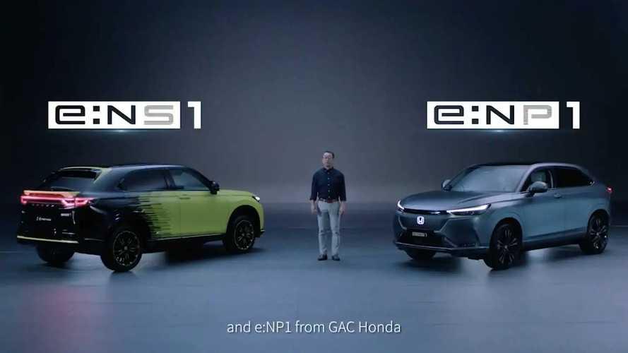 Honda e:NS1 And e:NP1 All-Electric SUVs For China