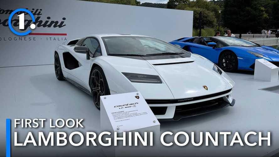 Video: Neuer Lamborghini Countach live im Detail betrachtet