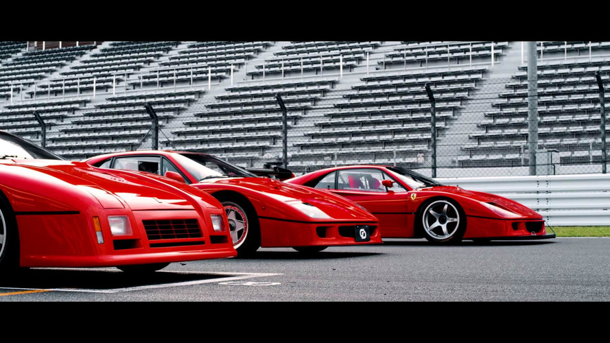 Watch Japanese Gentlemen Honor The Ferrari 288 GTO Evo And F40 LM