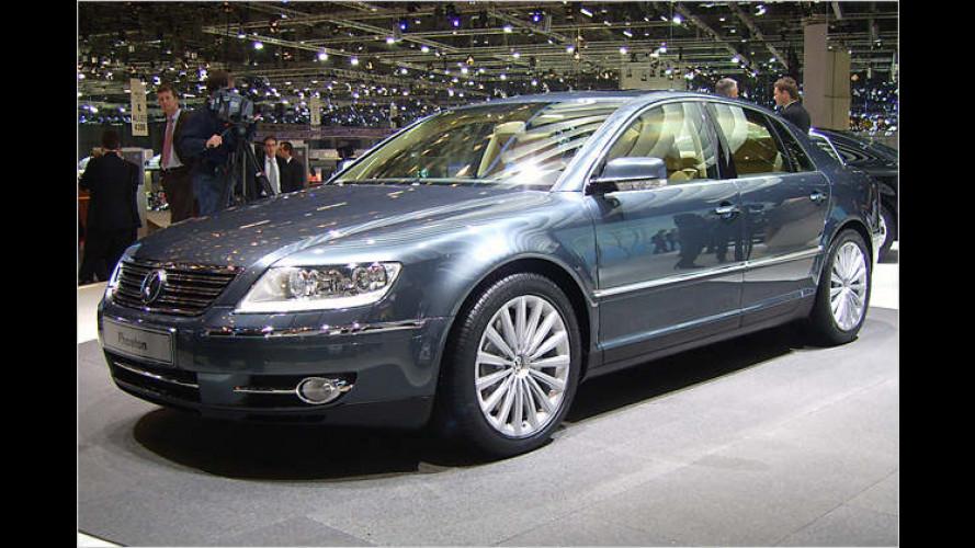 VW Phaeton in Genf: Weltpremiere für kleinere Retuschen