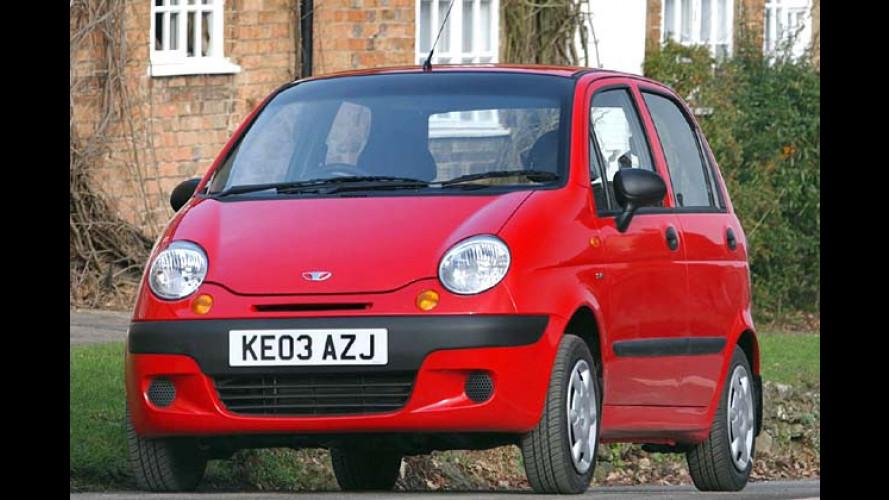 Preissenkungen bei Daewoo: Autos bis zu 1.100 Euro billiger