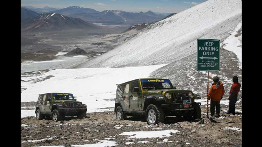 Rekord: Deutscher mit Jeep Wrangler auf 6.646 Meter Höhe