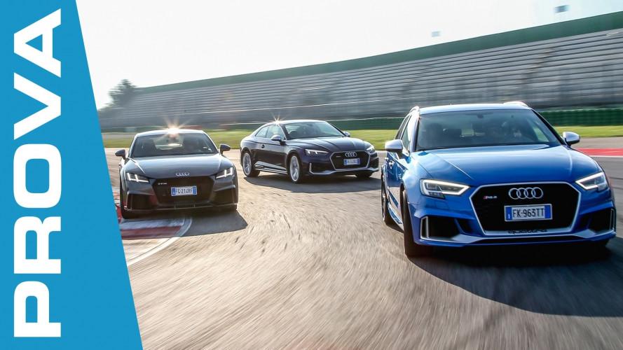 Audi Sport, in prova un tris da 1.250 CV