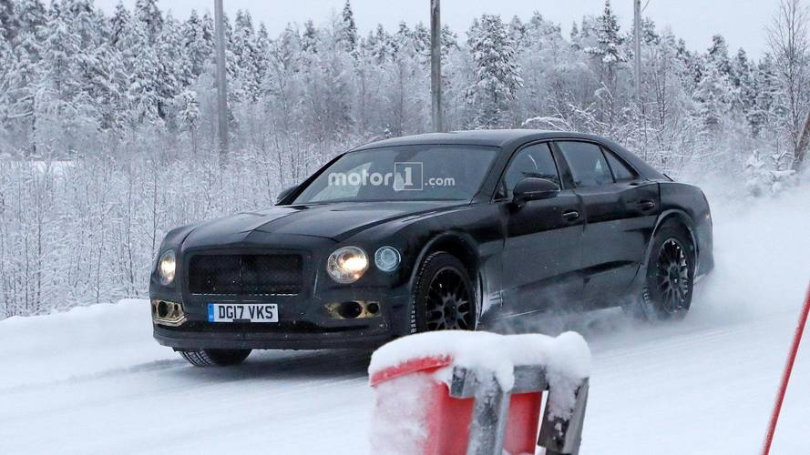 Next-Gen Bentley Flying Spur Spied Taking A Drive In Snowy Sweden
