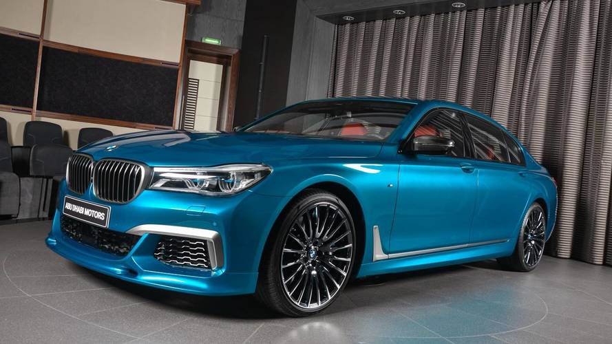 BMW M760Li xDrive in Long Beach Blue