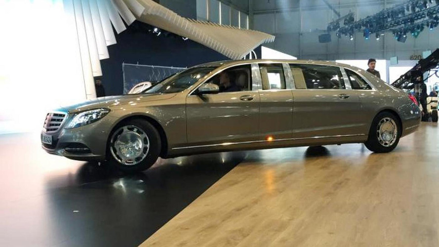 Mercedes Maybach S600 Pullman photographed in the metal in Geneva