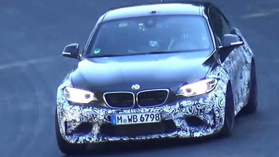 BMW M2 spied going all out on the Nurburgring [video]