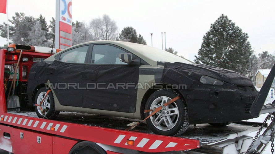 2011 Hyundai Elantra Spy Photos Winter Testing
