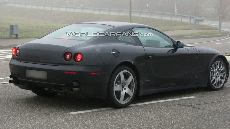 2012 Ferrari 612 Scaglietti test mule emerges from the fog