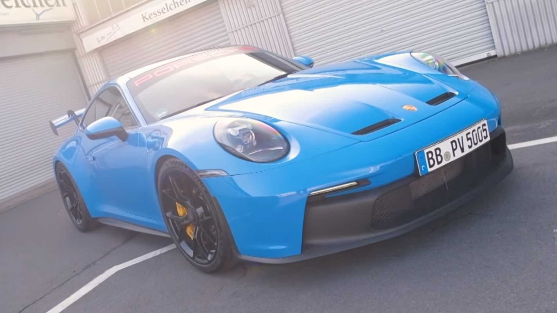 Journalist Driving 2022 Porsche 911 GT3 Laps Nurburgring In 7:04