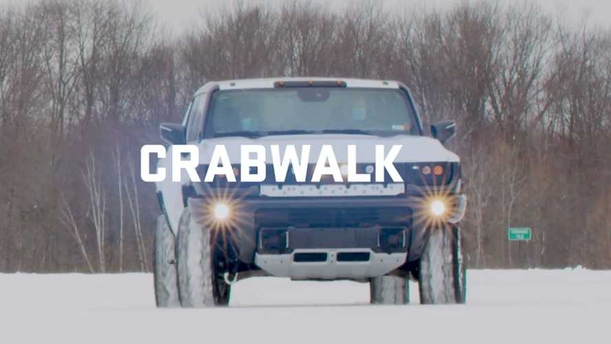 Watch GMC Hummer EV Truck Show Off Crab Walk and 4-Wheel Steering