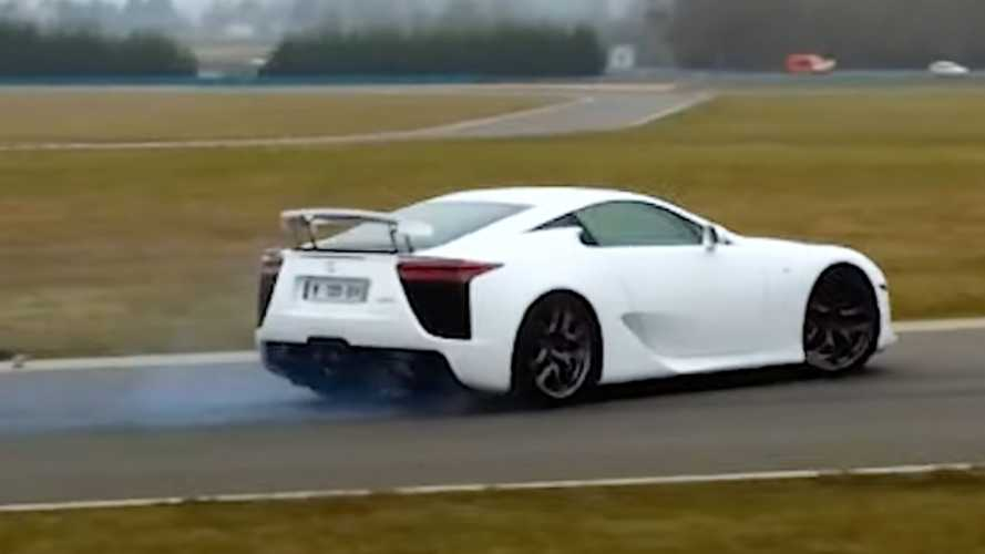 See Lexus LFA Accelerate, Scream, And Drift 10 Years After Its Birth