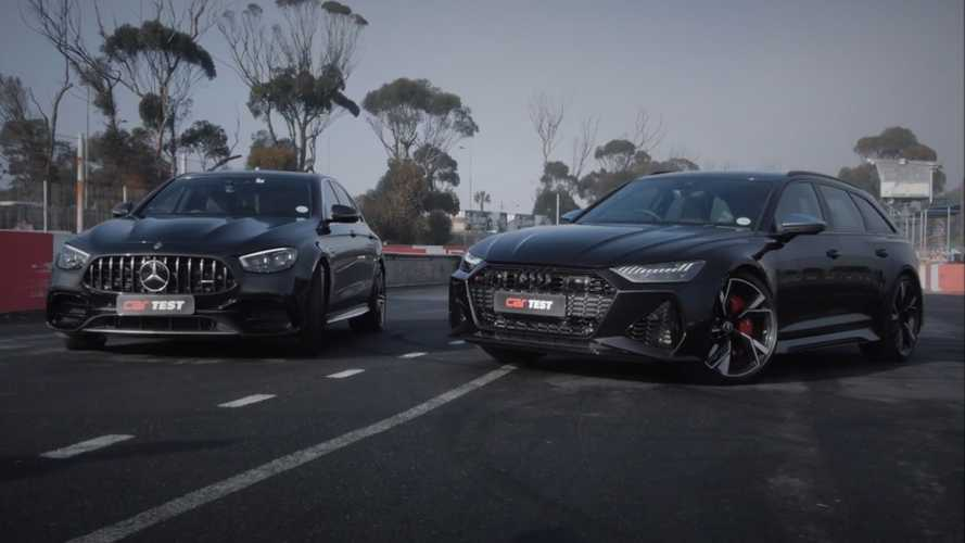 Audi RS6 Avant Tries To Fend Off Mercedes-AMG E63 S In Drag Race