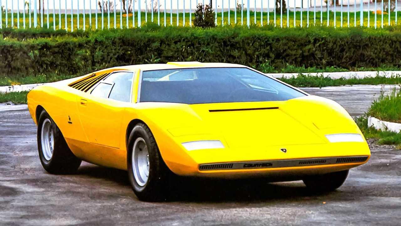 1971 stand der Lamborghini Countach erstmals auf einer Automesse