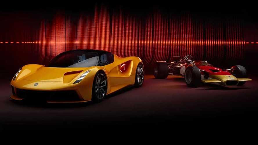 Lotus Evija con sonido del Lotus Type 49