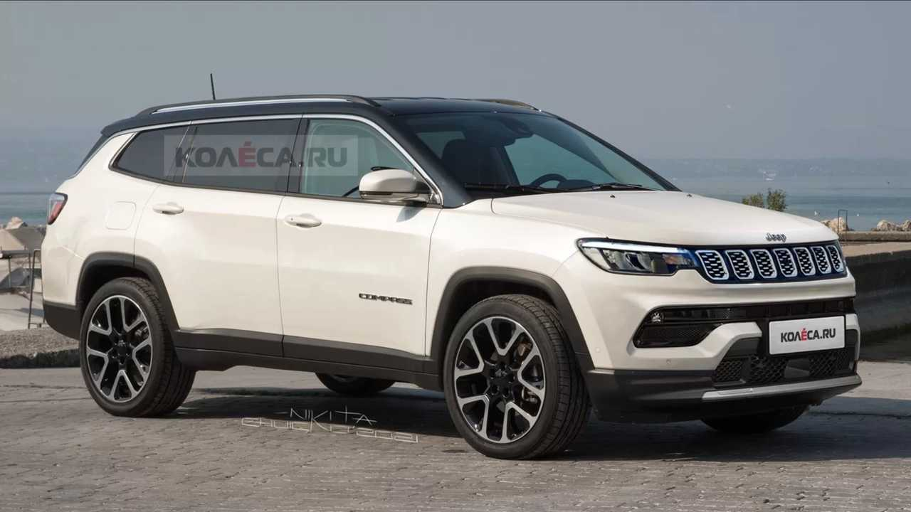 Seven-seat Jeep Compass unofficial renderings.
