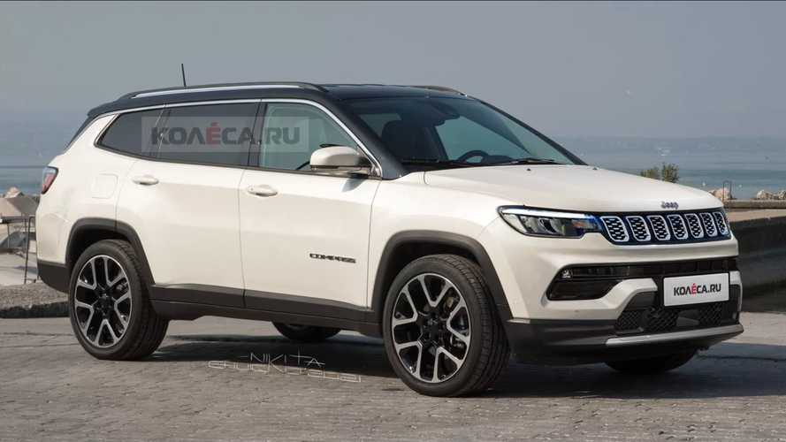 7 koltuklu Jeep Compass render
