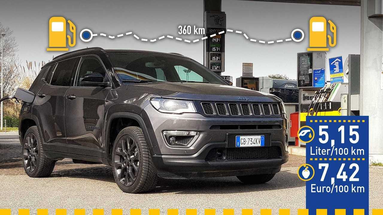 Der Jeep Compass 4xe im Verbrauchstest