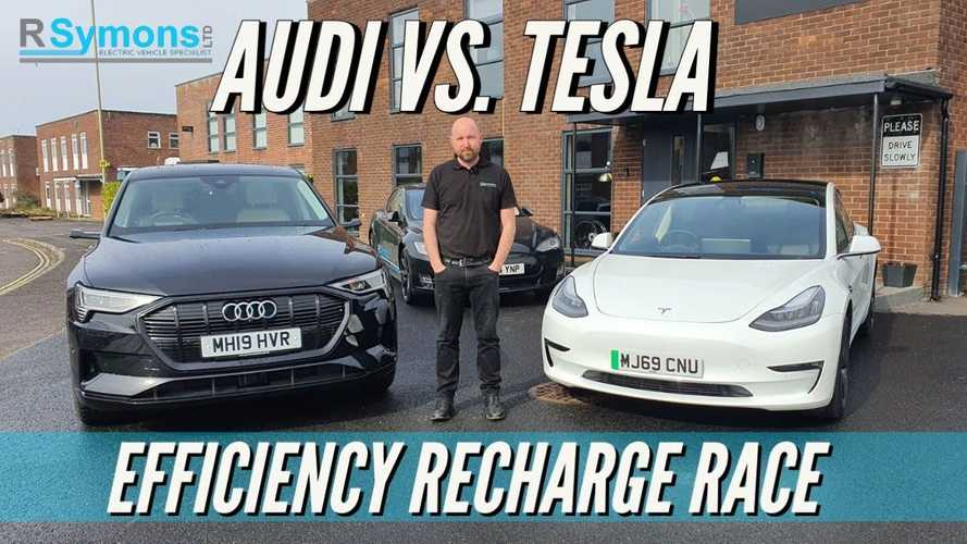 UK charging speed race: Tesla Model 3 vs Audi E-Tron