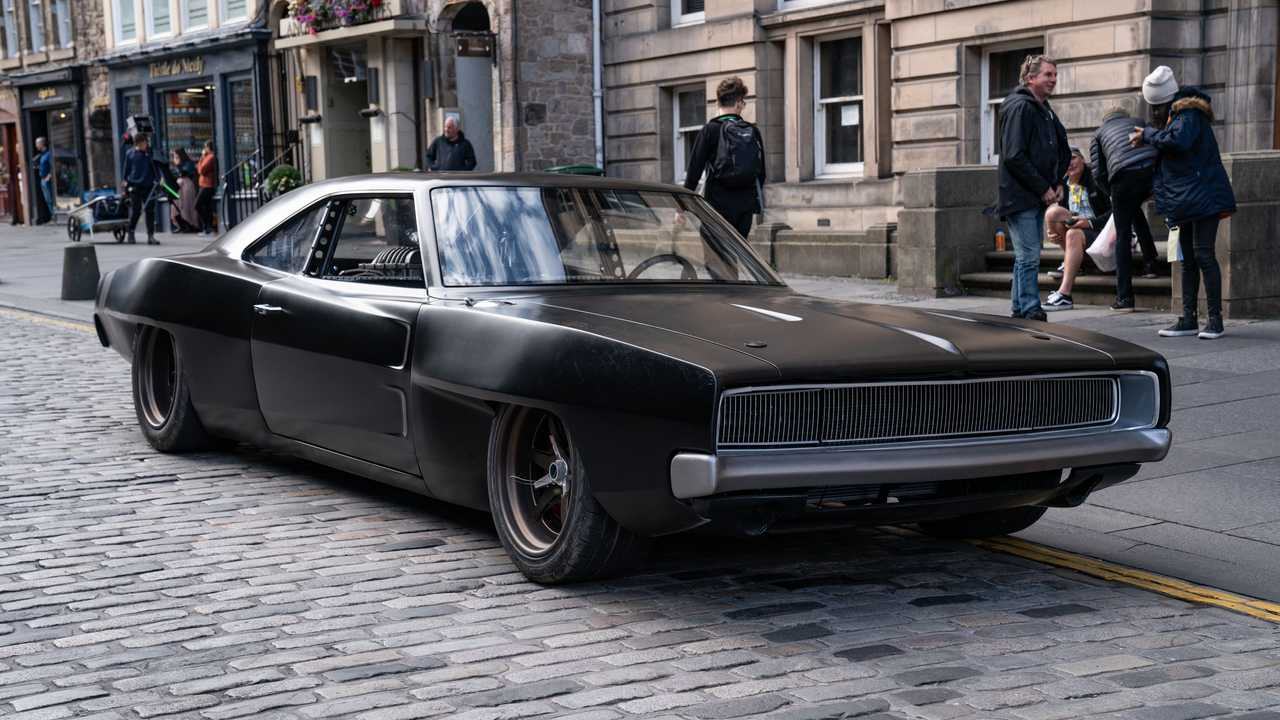 Dom's mid-engine Dodge Charger front three-quarter perspective