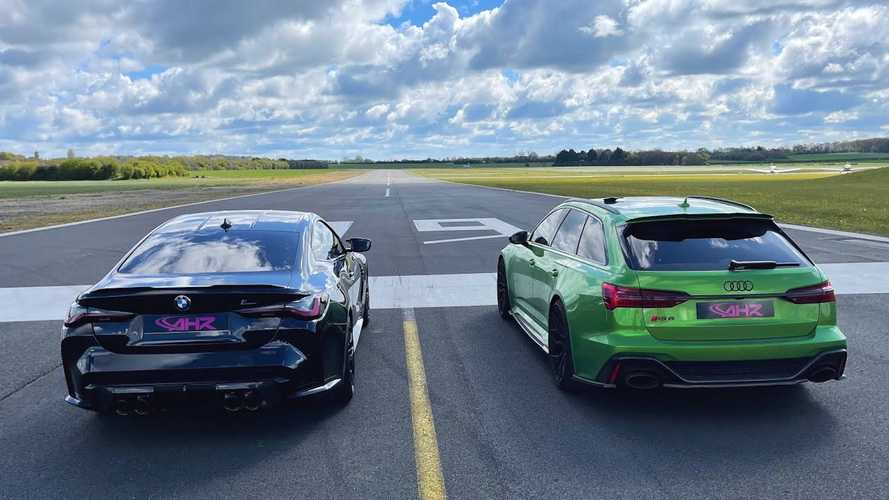 Watch New BMW M4 Competition Drag Race The Audi RS6 Avant