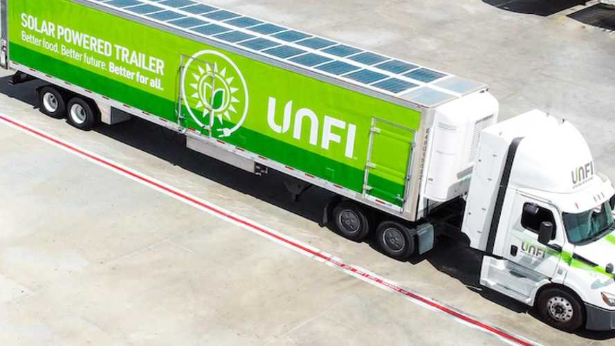 I camion frigo a zero emissioni? Hanno pannelli solari sul tetto
