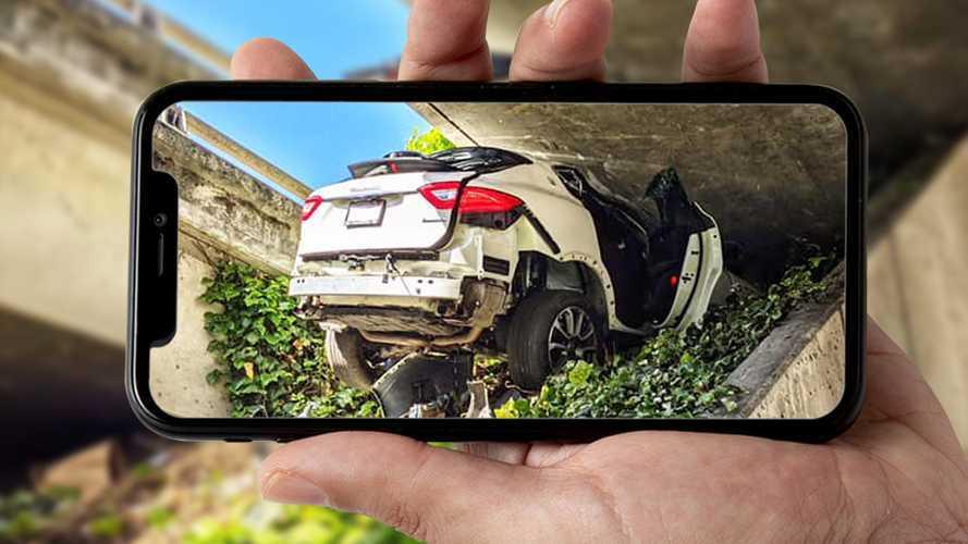 Fugge dalla polizia californiana e distrugge una Maserati Levante