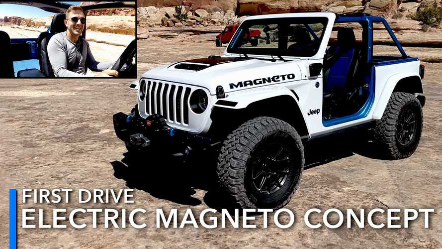 Driving Through Moab In The All-Electric Jeep Wrangler Magneto Concept