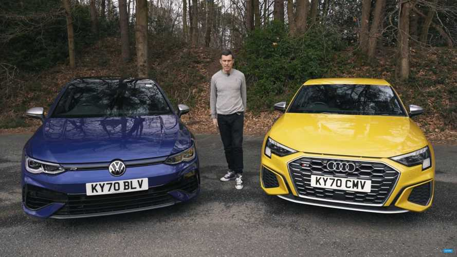 Audi S3 and VW Golf R duke it out in 0-60 mph sprint, braking tests
