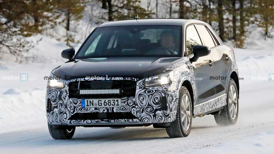 Audi Q2 facelift first spy photos