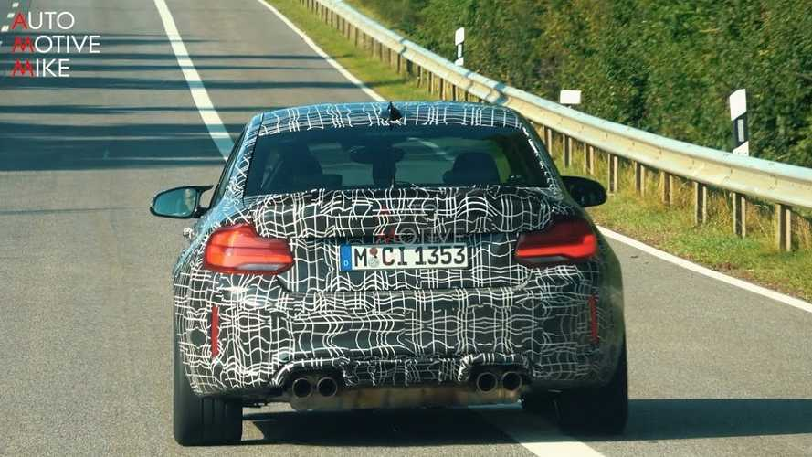 BMW M2 CS spied developing its sporty components on video