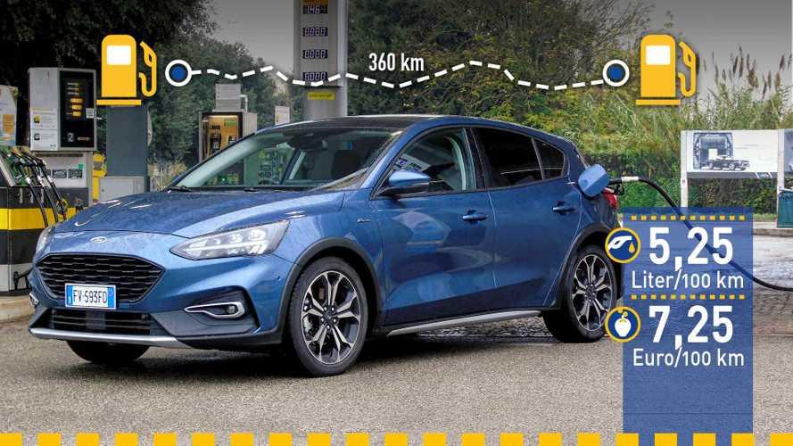 Tatsächlicher Verbrauch: Ford Focus Active 1.0 Ecoboost im Test