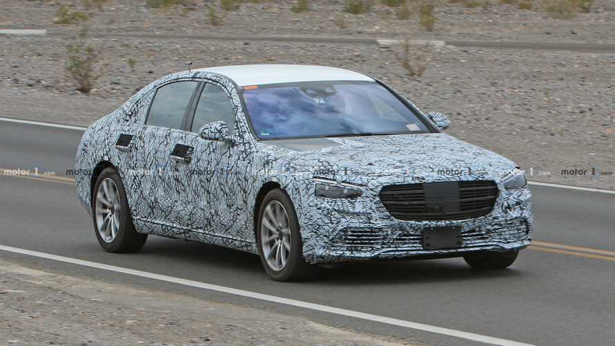 Mercedes-Benz S-Class saloon spy shots