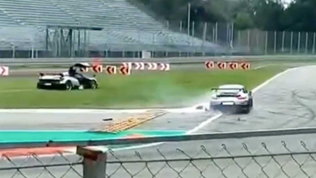 Porsche 911 GT2 RS Crash Into Pagani Huayra BC