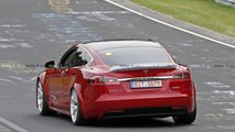 Photo espion Tesla Model S Nurburgring