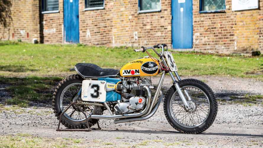 The Last Of The Strongbow Triumph Flat Trackers Goes To Auction