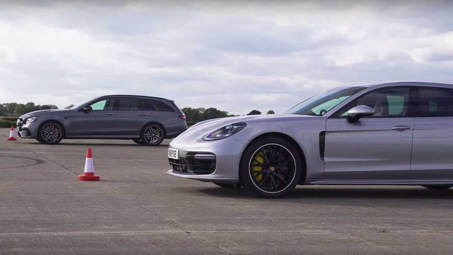 Panamera Sport Turismo drag races AMG E63 S for estate supremacy