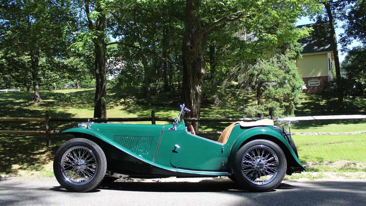 Beautifully Restored Iconic 1949 MG TC Is A Green Dream