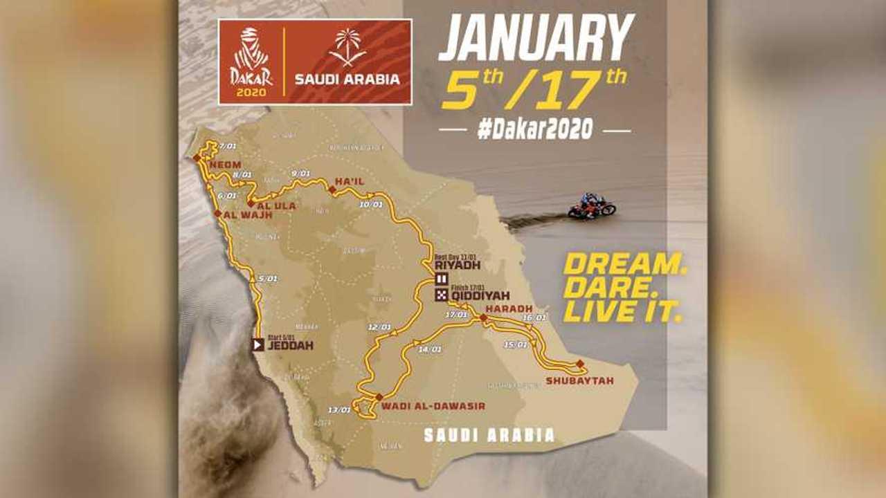 2020 Dakar Map