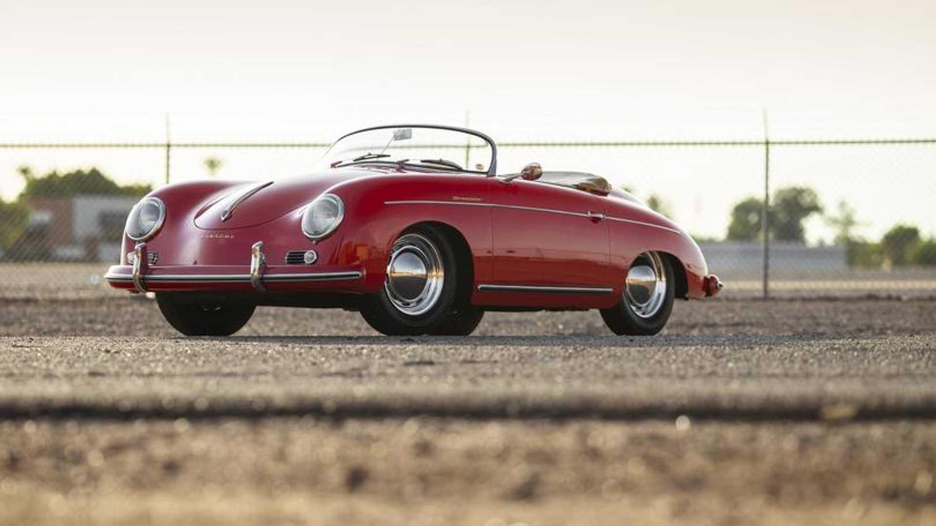 """[""""Own A Genuine 1956 Porsche 356 Speedster""""]"""