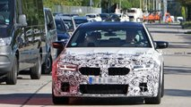 BMW M5 facelift first spy photos